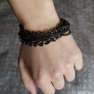 Jewelry - Multi chain bracelet in gunmetal gray